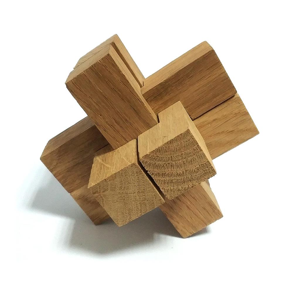 Головоломка деревянная Крест Макарова Большой