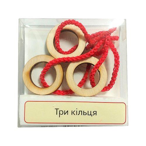 Головоломка деревянная Три кольца