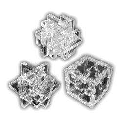 Набор из трех акриловых 3D-головоломок