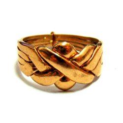 Кольцоголоволомка унисекс из 4 деталей бронза