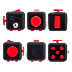 Антистрессовый кубик Fidget Cube Чёрнокрасный