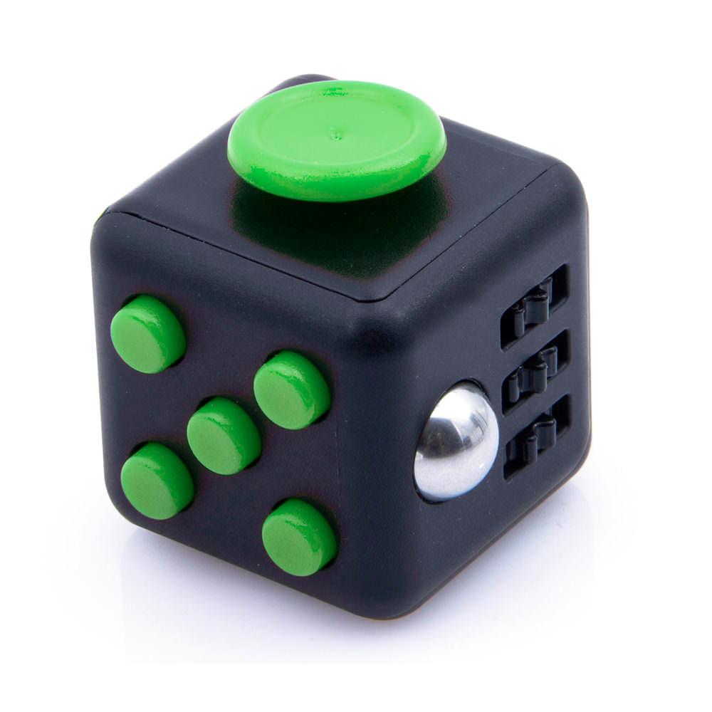 Антистрессовый кубик Fidget Cube Чёрнозеленый