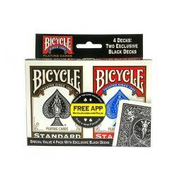 Набор покерных карт Bicycle Standard 4 Decks