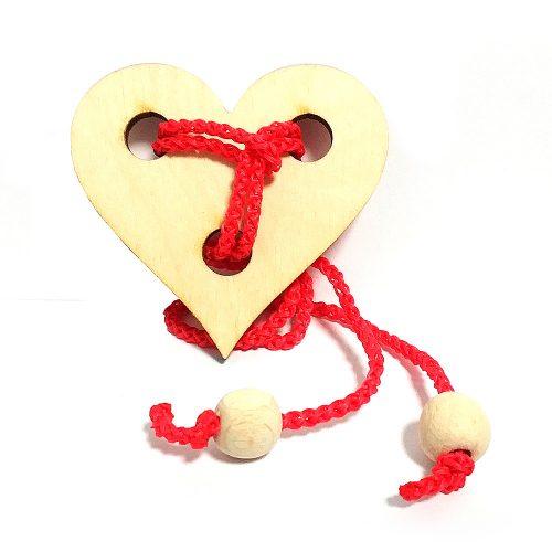 Головоломка веревочная Сердце