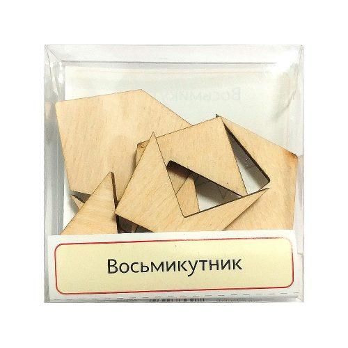 Головоломка деревянная Восьмиугольник